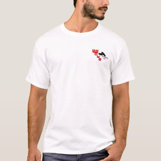 Chemise rouge d'équipe de sillage t-shirt