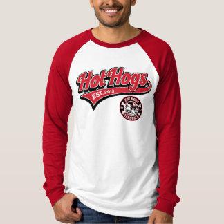 Chemise rouge du base-ball des hommes classiques t-shirt