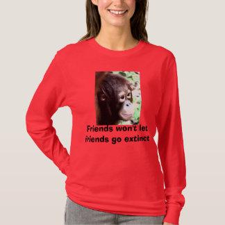 Chemise rouge pour les singes rouges t-shirt