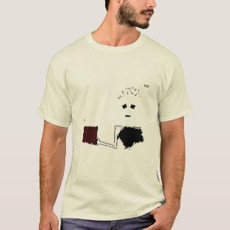 Chemise rouge triste t-shirt