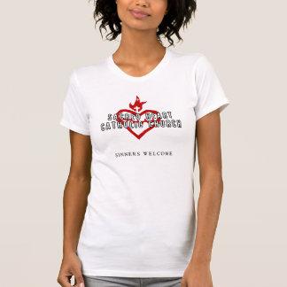 Chemise sacrée de blanc d'église catholique de t-shirt