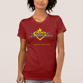 Chemise sacrée d'obscurité d'église catholique de t-shirt