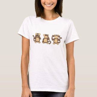 Chemise sage de trois singes t-shirt