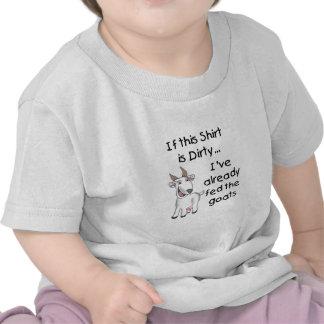 Chemise sale de chèvre drôle t-shirts