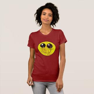 Chemise souriante vintage de visage t-shirt