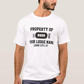 Chemise sportive de loge maçonnique t-shirt
