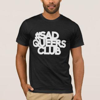 chemise triste de club de pédés - lettrage blanc t-shirt
