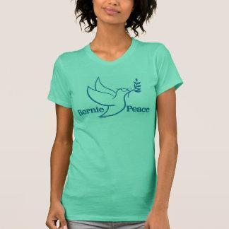 Chemise verte bilatérale d'oiseau de la paix des t-shirt