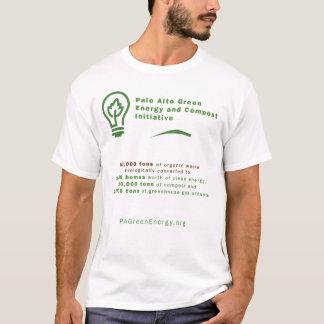 Chemise verte d'énergie de Palo Alto T-shirt