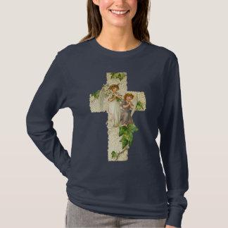 Chemise vintage d'ange de Pâques T-shirt