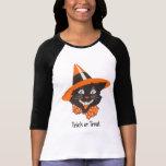 Chemise vintage de Halloween de chat noir T-shirt
