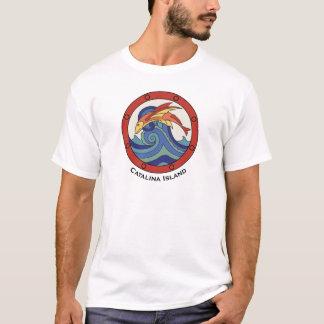 Chemise vintage de tuile de poissons de vol d'île t-shirt