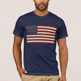 Chemise vintage piquée de drapeau t-shirt