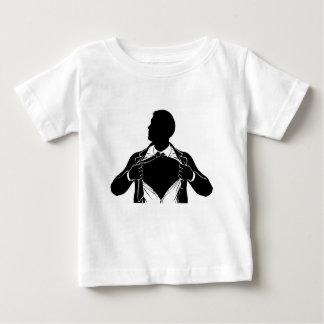 Chemise violente d'homme d'affaires de super héros t-shirt pour bébé