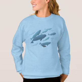 Chemises de beluga de bébé de sweatshirt de