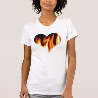 Chemises de coeur de flamme t-shirt