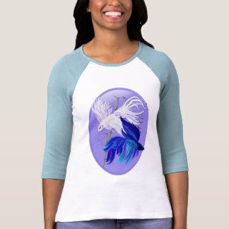 Chemises de combat siamoises blanches bleues d ova t-shirt