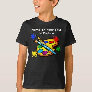 Chemises de Pallette d'artiste pour des enfants T-shirt