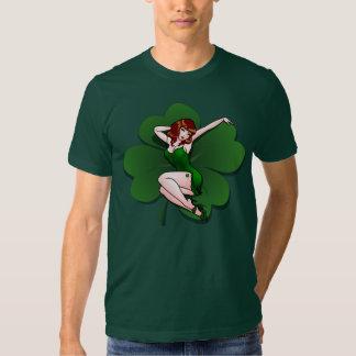 Chemises de pin-up irlandaises chanceuses 5XL de T-shirts