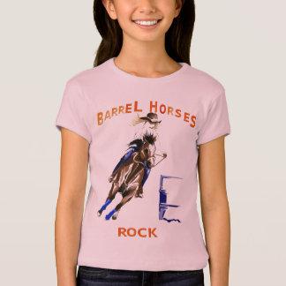 Chemises de roche de chevaux de baril t-shirt