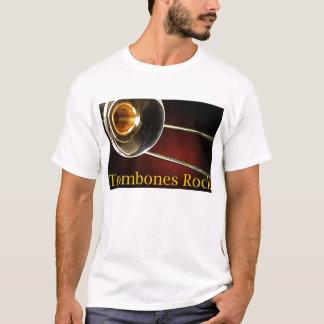 Chemises de roche de trombones t-shirt