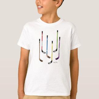Chemises d'enfants de bâtons de hockey t-shirt