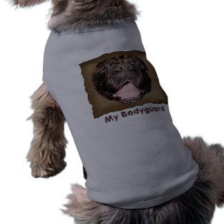 """Chemises drôles de chien """"mon garde du corps """" t-shirt pour chien"""