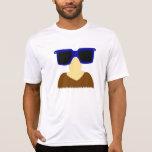 Chemises incognito de moustache et en verre t-shirt