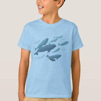 Chemises mignonnes d'art de baleine de T-shirt de