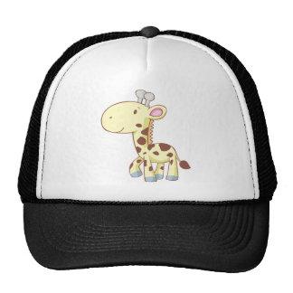 Chemises mignonnes de girafe de bébé de bande dess casquettes de camionneur