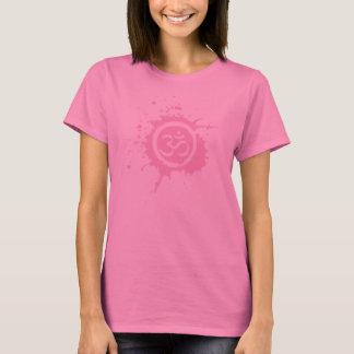 Chemises organiques roses de planète d'Aum T-shirt