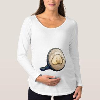 Chemisette de longue douille de pre-mamá, Blanc T-shirts