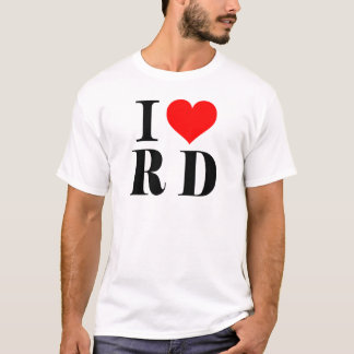 Chemisette I Love RD T-shirt
