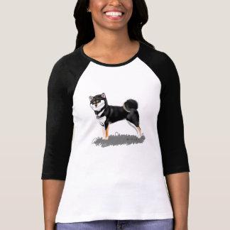 Chemisette shiba inu black&tan t-shirt