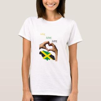 Chemisier jamaïcain de dames t-shirt