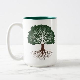 Chêne vivant tasse 2 couleurs