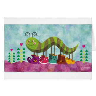 chenille fantaisie carte de vœux