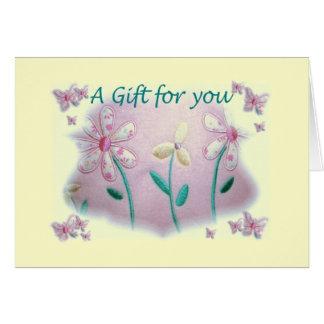 Chèque-cadeau de baby shower cartes de vœux