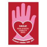Chèque-cadeau : Loi aléatoire de la gentillesse en Carte De Visite Grand Format