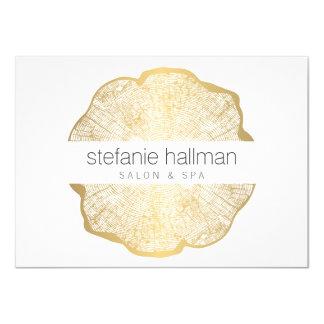 Chèque-cadeau organique de salon d'anneaux d'arbre carton d'invitation  11,43 cm x 15,87 cm