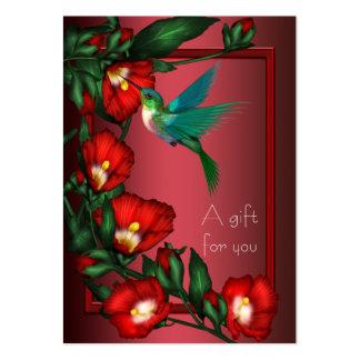 Chèques-cadeau de certificat-prime de colibri de carte de visite grand format