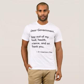 Cher gouvernement t-shirt
