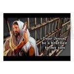 Cher Jésus soit un frère à mon fils… Cartes De Vœux