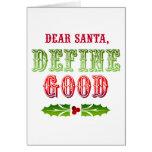 Cher Père Noël définissent bon Carte