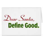 Cher Père Noël, définissent bon Carte De Vœux