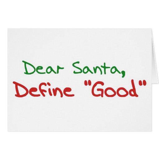 Cher Père Noël, définissent de bonnes vacances drô Carte