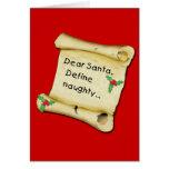 Cher Père Noël… définissent le T-shirts vilain, vê Carte De Vœux