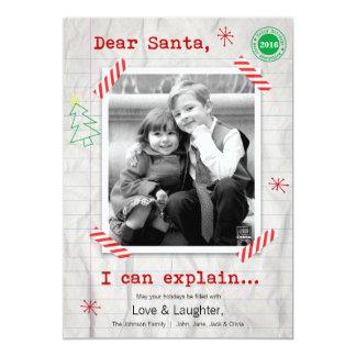 Cher Père Noël… nous pouvons expliquer le carte Invitations
