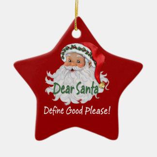 Cher Père Noël Ornaments Ornement Étoile En Céramique