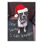 Cher Père Noël que je peux expliquer Carte
